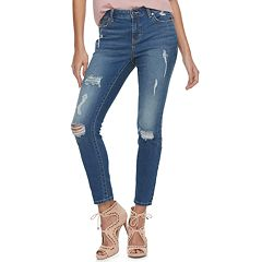 Women's Jennifer Lopez Midrise Ankle Skinny Jeans