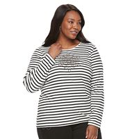 Plus Size Croft & Barrow® Holiday Spirit Tee