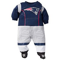 Baby New England Patriots Football Gear Bodysuit