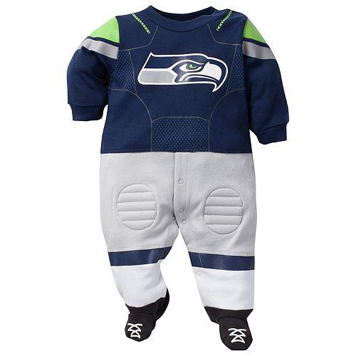 Baby Seattle Seahawks Football Gear Bodysuit
