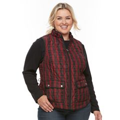 Plus Size Croft & Barrow® Quilted Vest
