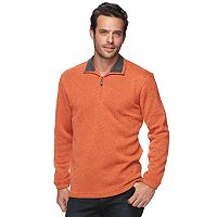 Men's Haggar Classic-Fit Sweater Fleece Quarter-Zip Pullover
