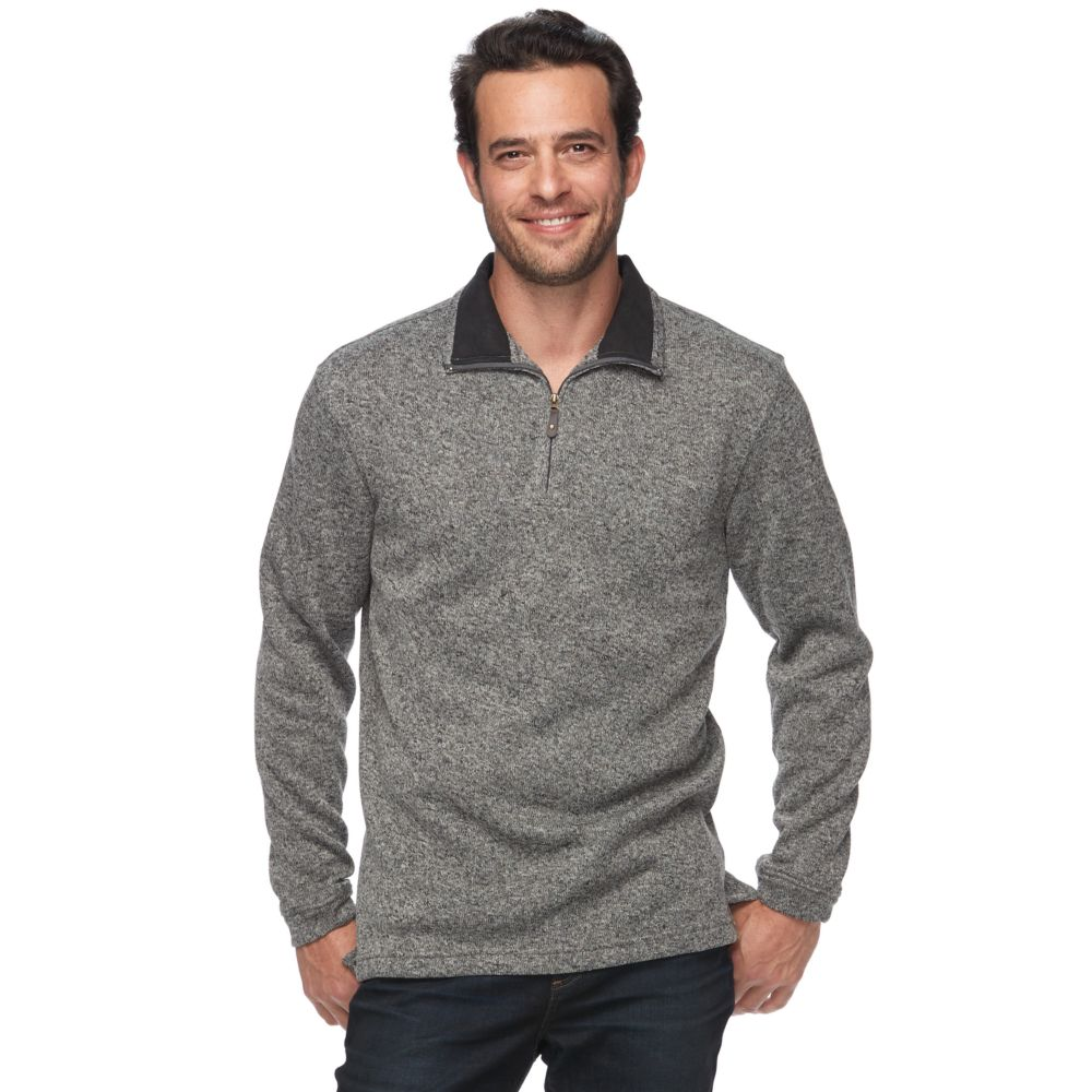 Haggar Classic-Fit Sweater Fleece Quarter-Zip Pullover