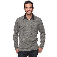 Men's Haggar Classic-Fit Sweater Fleece Quarter-Zip Pullover