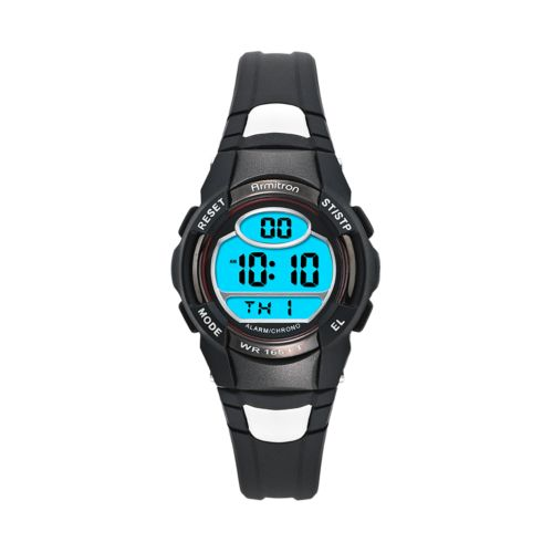 Armitron Watch - Men's Black Resin Digital Chronograph Sport
