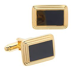 Men's Croft & Barrow® Gold-Tone Enamel Cuff Links