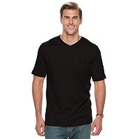 Big & Tall Croft & Barrow® Classic-Fit Easy-Care V-Neck Pocket Tee