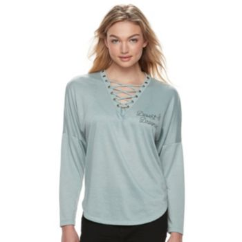 """Juniors' About A Girl Lace-up """"Desert Dreamin"""" Tee"""