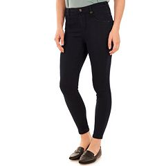 Juniors' Wallflower High Waist Black Skinny Jeans