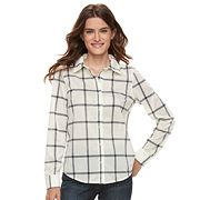 Women's Caribbean Joe Plaid Button Front Shirt