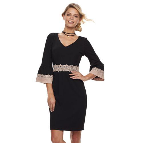 Petite Chaya Lace Detail Dress