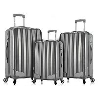 Rockland Barcelona 3-Piece Hardside Spinner Luggage Set