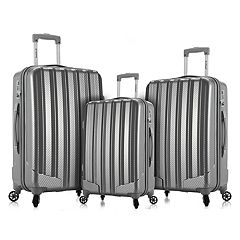 Rockland Barcelona 3 pc Hardside Spinner Luggage Set