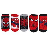 Boys Spiderman 5-pk Low-rise Sock Set