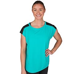 Women's Jockey Sport Illusion Cap Sleeve Tee