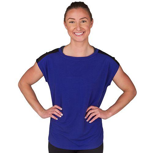 Women's Jockey Sport Illusion Cap Sleeve Tee