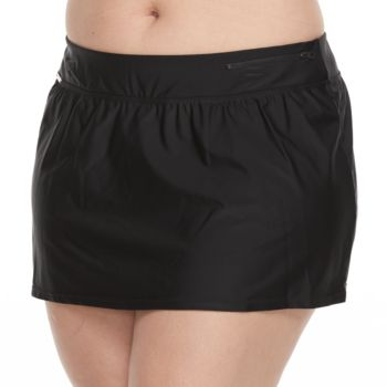 Plus Size ZeroXposur Solid Skirtini Bottoms