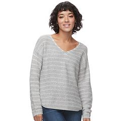 Juniors' SO® Textured V-Neck Sweater