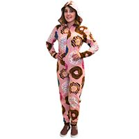 Juniors' Donut Fleece One-Piece Pajamas