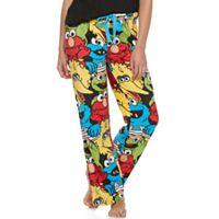 Juniors' Pajamas: Sesame Street Fleece PJ Pants