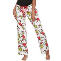 Juniors' Pajamas: Dr. Seuss Grinch Fleece PJ Pants