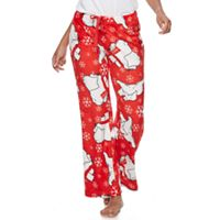 Juniors' Pajamas: Coca-Cola Polar Bears Fleece PJ Pants