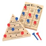J.B. Nifty Tic Tac Toe & Solitaire Wooden Games