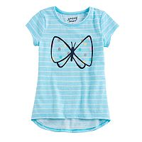 Girls 4-10 Jumping Beans® Striped Butterfly Hi Low Top