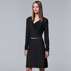 Women's Simply Vera Vera Wang Cozy Cowl Sweater Dress