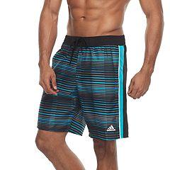 Men's adidas Vara Striped Microfiber Volley Shorts