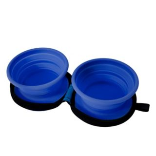 J.B. Nifty Dual Travel Pet Bowl