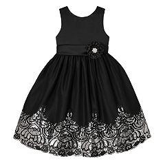 Girls 7-12 American Princess Sequin Border Sleeveless Dress