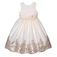 Girls 7-12 American Princess Sequin Border Sleeveless Dress