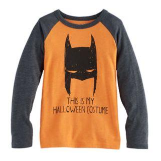 "Boys 4-10 Jumping Beans® DC Comics Batman ""This Is My Halloween Costume"" Raglan Tee"