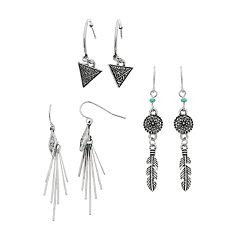3-Pack Trio Earrings Set