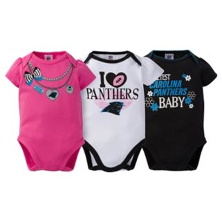 Baby Carolina Panthers 3-Pack Love Bodysuit Set