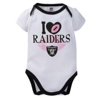 Baby Oakland Raiders 3-Pack Love Bodysuit Set