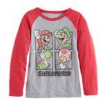 Boys 4-10 Jumping Beans® Super Mario Bros Mario, Luigi, Yoshi & Toad Raglan Graphic Tee