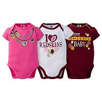 Baby Washington Redskins 3-Pack Love Bodysuit Set