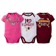 Baby Washington Redskins 3-Pack Love Bodysuit Set