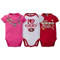 Baby San Francisco 49ers 3-Pack Love Bodysuit Set