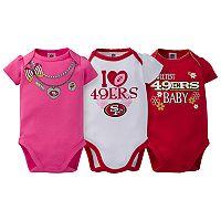 Baby San Francisco 49ers 3-Pack Love Bodysuit Set