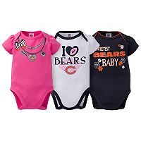 Baby Chicago Bears 3-Pack Love Bodysuit Set