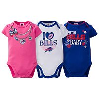 Baby Buffalo Bills 3-Pack Love Bodysuit Set