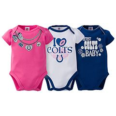 Baby Indianapolis Colts 3-Pack Love Bodysuit Set