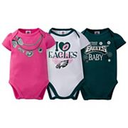 Baby Philadelphia Eagles 3-Pack Love Bodysuit Set