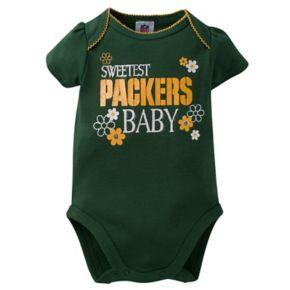 Baby Green Bay Packers 3-Pack Love Bodysuit Set