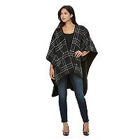 Apt. 9® Reversible Windowpane Fleece Ruana