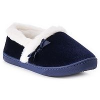 Women's Chaps Bow Accent Velvet A-Line Slippers