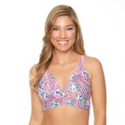 Women's Aqua Couture Paisley Push-Up Bikini Top